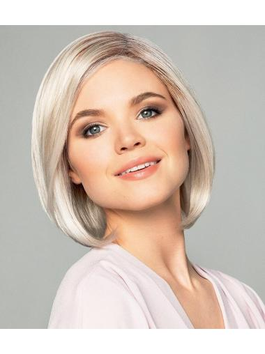 Chin Length Straight Monofilament Ombre/2 tone Synthetic Fashion Bob Wigs