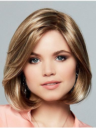 """10"""" Chin Length Straight Ombre/2 tone Synthetic Bobs Sleek Monofilament Wigs"""