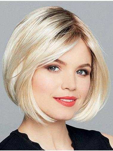 """10"""" Chin Length Straight Monofilament Ombre/2 tone Bobs Ladies Synthetic Wigs"""