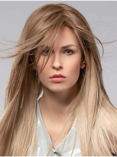 """16"""" Straight Monofilament Ombre/2 Tone Synthetic Without Bangs Ladys Long Wig"""