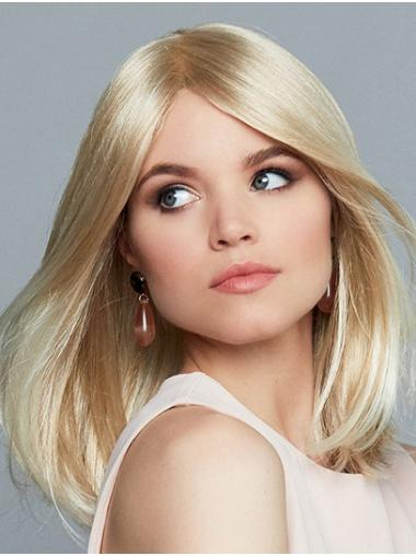 """14"""" Straight Monofilament Blonde Synthetic Layered Styling Long Wig"""