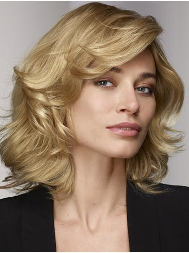 "12"" Curly Blonde Lace Front Bobs Human Hair Wig"