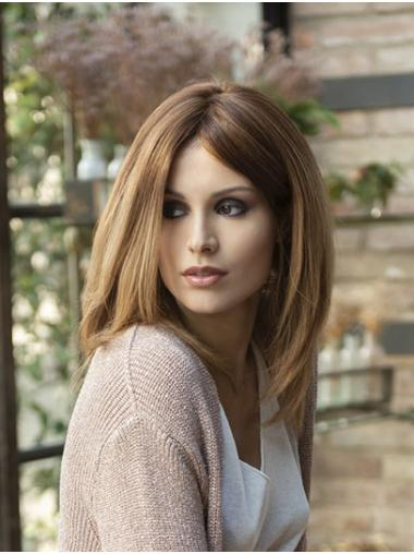 Shoulder Length Blonde Bobs Straight Synthetic Lace Front Wigs Wholesale