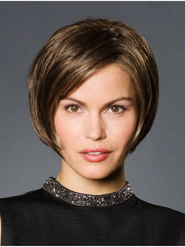 """Straight Brown Bobs Monofilament 10"""" Short Wigs For Sale"""