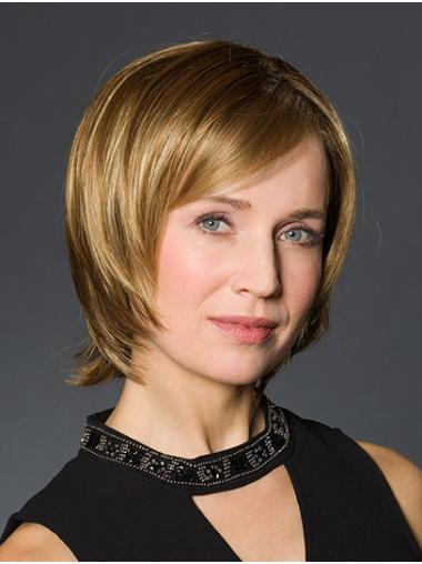 """Straight Blonde Synthetic Chin Length 10"""" Wig Bob"""