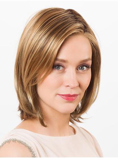 "Straight Blonde Synthetic Chin Length 12"" Quality Bob Wig"