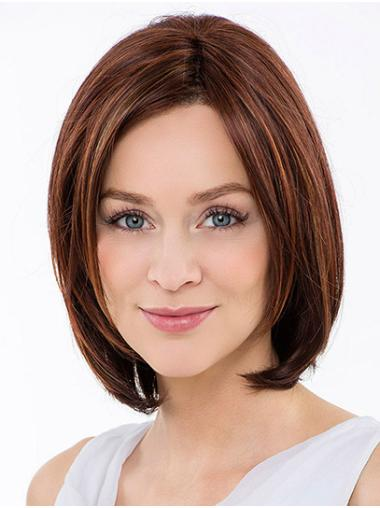 """Straight Auburn Synthetic Chin Length 12"""" Ladies Bobs Wigs"""