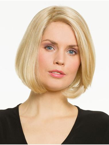 """Straight Blonde Synthetic Chin Length 10"""" Wigs Bobs"""