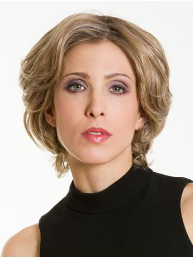 """Wavy Ombre/2 Tone Synthetic Chin Length 12"""" Bob Hairstyles Wigs"""