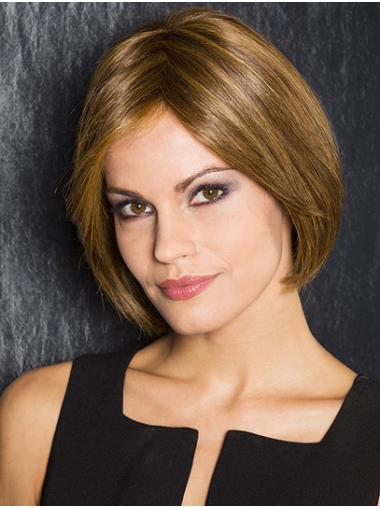"""Straight Blonde Synthetic Chin Length 10"""" Fashion Bob Wigs"""