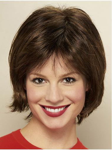 """Bobs Brown Chin Length 10"""" Straight Ladies Monofilament Wigs"""