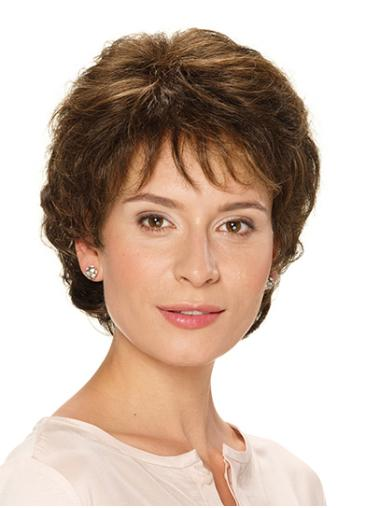 """Classic Brown Short 10"""" Wavy Classic Wig For Women"""