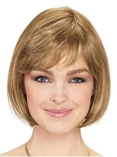 "Bobs Blonde Chin Length 10"" Straight Wigs Bob Style"