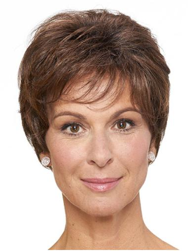 """Classic Brown Short 8"""" Straight Classic Wig On Sale"""