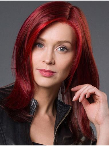 "Without Bangs Red Shoulder Length 14"" Straight Beautiful Medium Wigs"