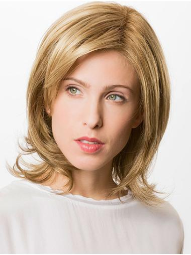 "Bobs Blonde Chin Length 12"" Straight Hand Made Wig"