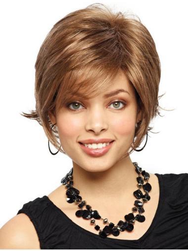Auburn No-fuss Chin Length Synthetic Wigs