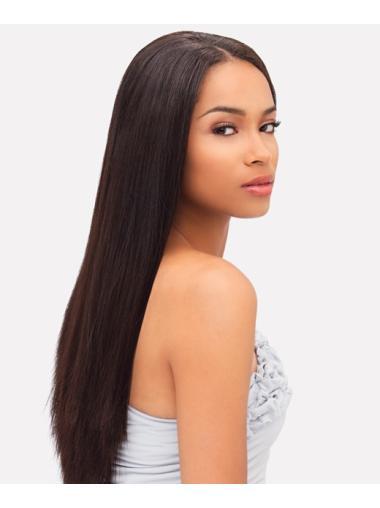 Long Auburn Indian Remy Hair Wigs for Black Women