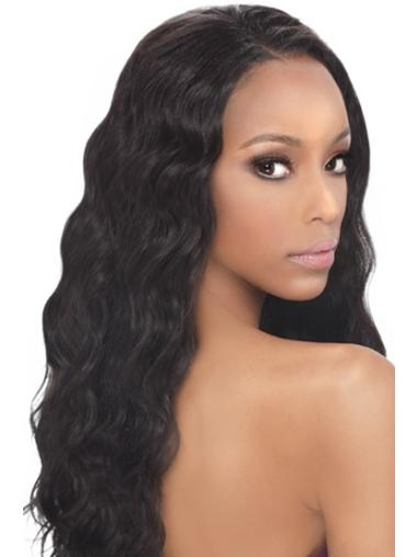 Wavy Lace Front Indian Remy Hair Wigs for Black Women