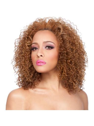 Medium Curly Synthetic Wigs for Black Women