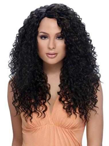 Long Black Curly Synthetic Wigs for Black Women