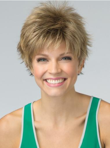 Versatility Short Blonde Straight Synthetic Wigs