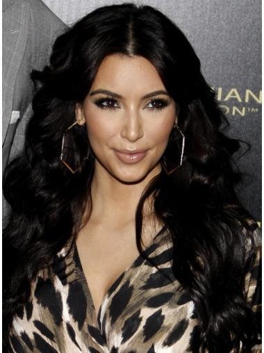 Long Black Human Hair Celebrity Wigs