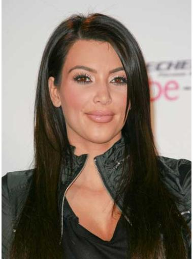 Long Black Remy Human Hair Celebrity Wigs