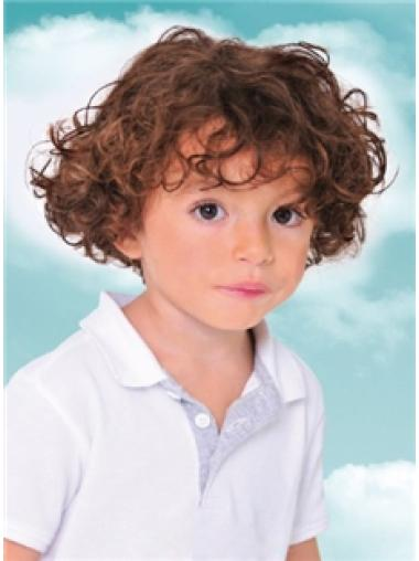 Short Curly Remy Human Hair Kids Wigs