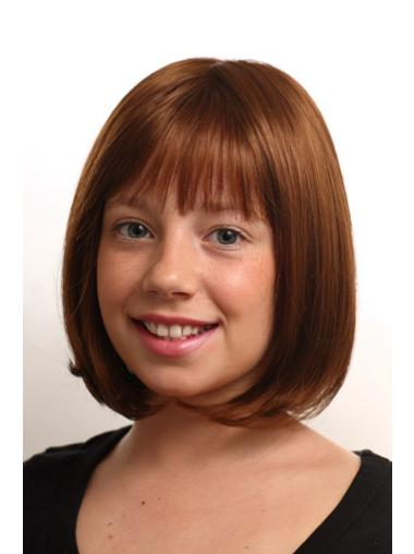 Chin Length Synthetic Kids Wigs
