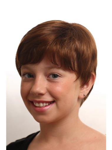 Short Monofilament Synthetic Kids Wigs