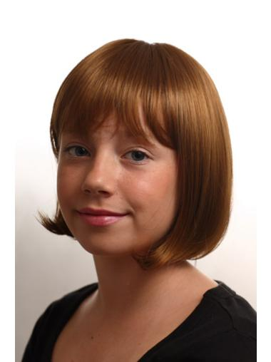 Auburn Straight Synthetic Kids Wigs