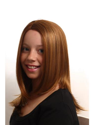 Long Auburn Straight Synthetic Kids Wigs