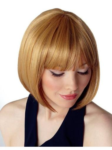 Blonde Straight Synthetic Bob Wig