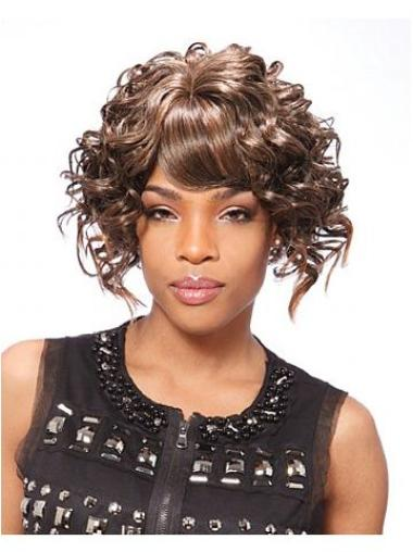 Short Curly Synthetic Wigs for Black Women
