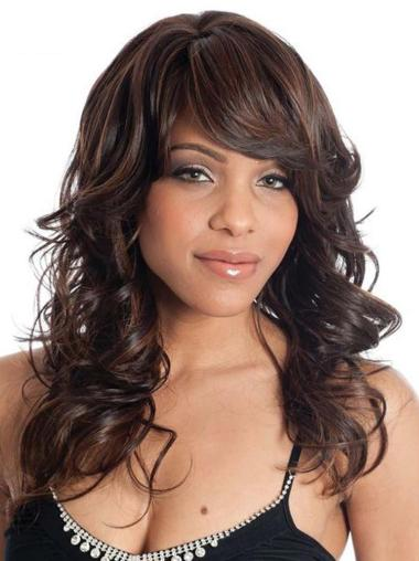 Brown Wavy Synthetic Long Wigs