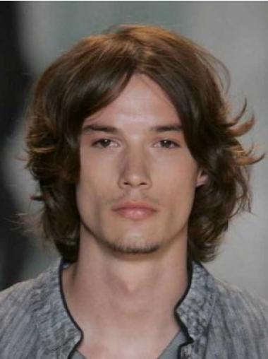 Lace Front Wavy Human Hair Mens Wig
