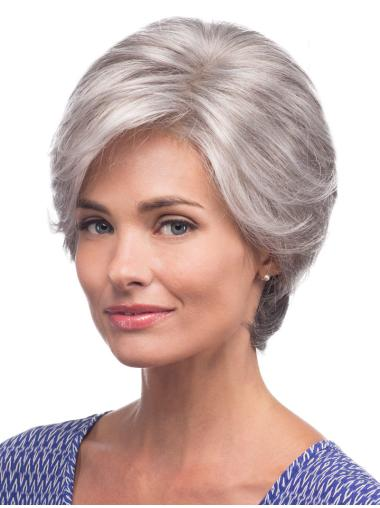 Straight Short Grey  Incredible Synthetic Wigs