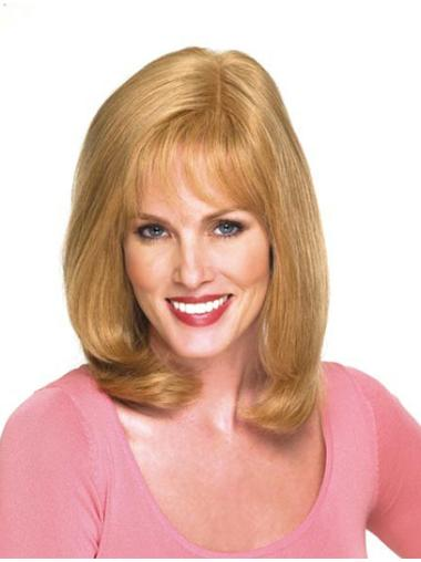 Wavy Blonde With Bangs Discount Wigs For Women