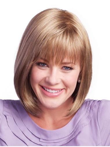 Straight Brown Bobs Quality Wigs For Women