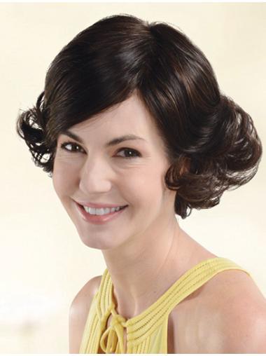 Wigs For Women Wavy Auburn With Bangs