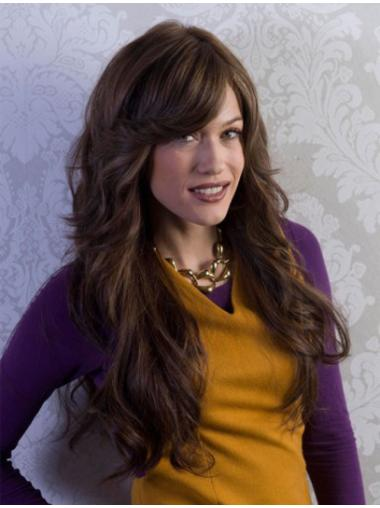 Full Lace Wavy Long With Bangs Wigs