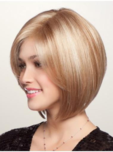 Bobs Lace Front Straight Chin Length Blonde Incredible Synthetic Wigs
