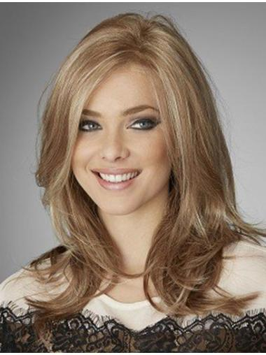 Without Bangs Lace Front Wavy Long Blonde Suitable Remy Human Hair Wigs