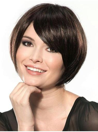 Bobs Lace Front Straight Chin Length Black Best Synthetic Wigs