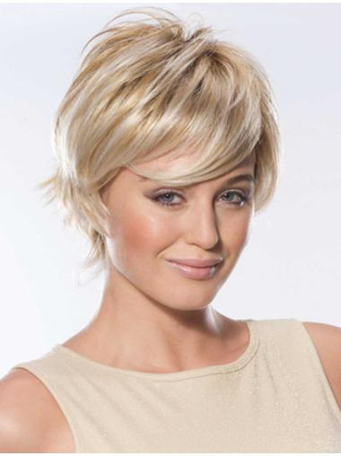 Boycuts Lace Front Straight Short Blonde Classic Remy Human Hair Wigs