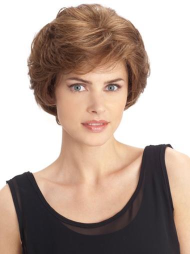 Wavy Auburn 100% Hand-Tied Synthetic Wigs Online