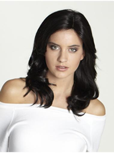 Suitable Straight Remy Human Hair Without Bangs Wig