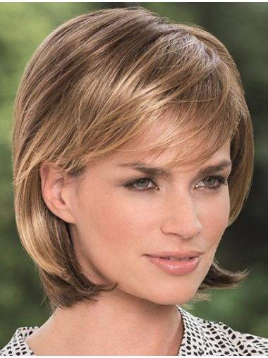 Straight Blonde Bobs Lace Front Chin Length Sleek Synthetic Wigs