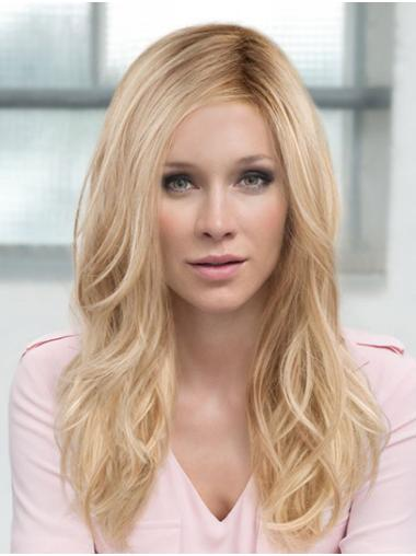 Wavy Blonde Monofilament Layered Synthetic Really Long Wigs